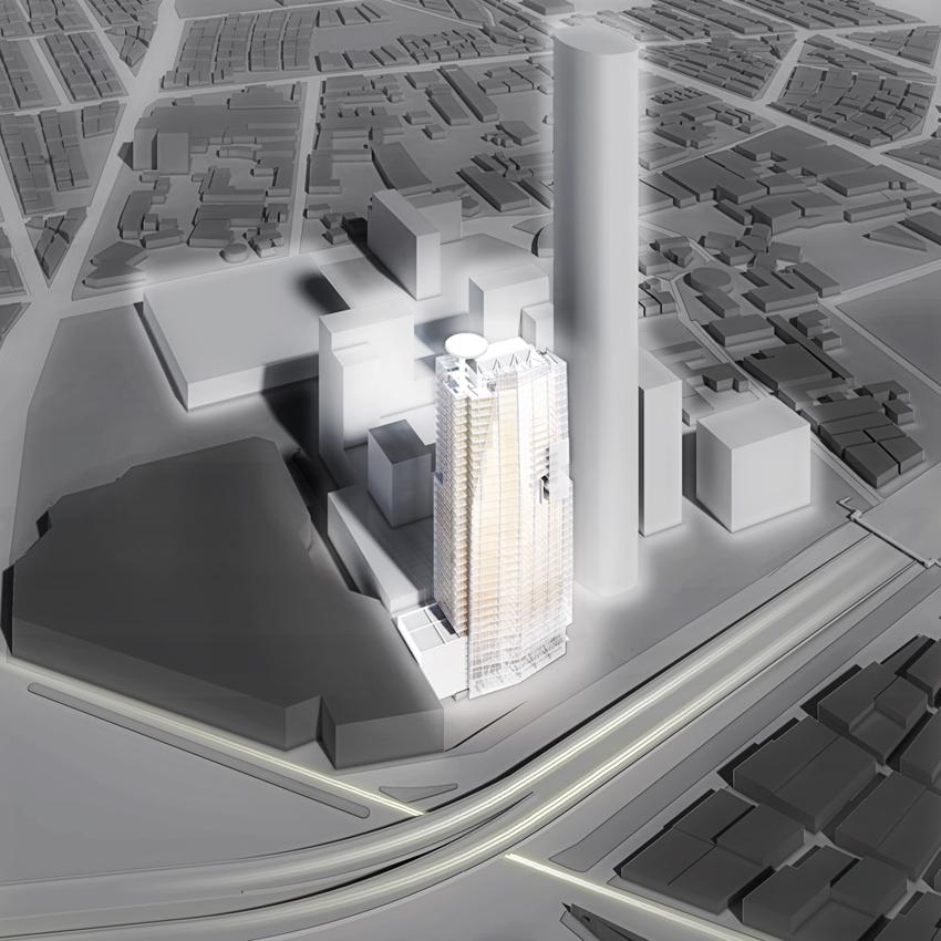 Richard Meier apresenta sua nova torre de escritórios para  a Cidade do México, © Richard Meier & Partners