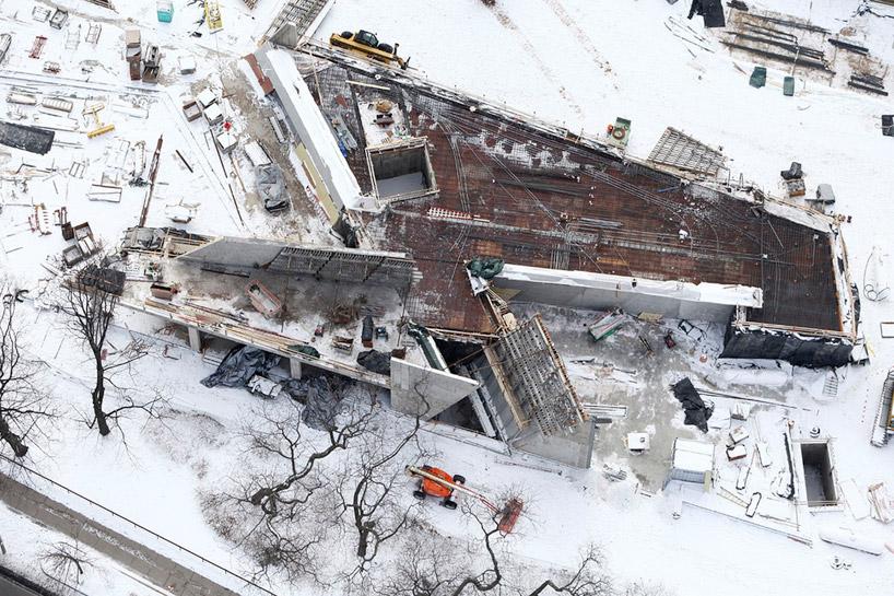 Em construção: Broad Art Museum / Zaha Hadid, © Broad Art Museum