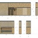 Elevação dos painéis de tijolos