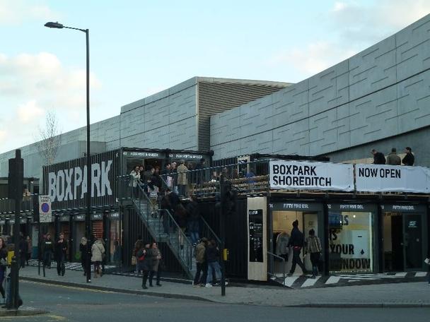 Boxpark, novas alternativas de comércio em áreas urbanas, Imagem via boxpark.co.uk
