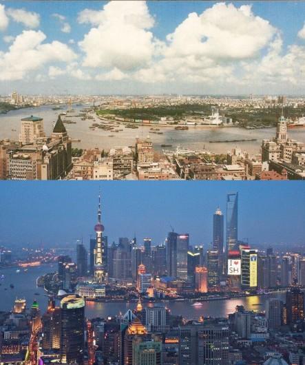 A vertiginosa transformação de Xangai, Vía © San Diego Reader. 1990-2010 Shanghai