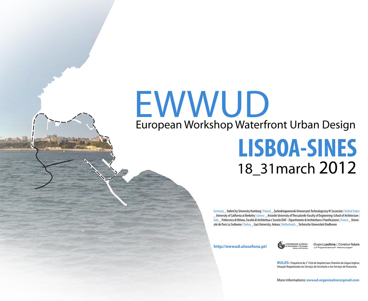 European Workshop on Waterfront Urban Design (EWWUD) / Lisboa - Portugal, Cortesia EWWUD2012