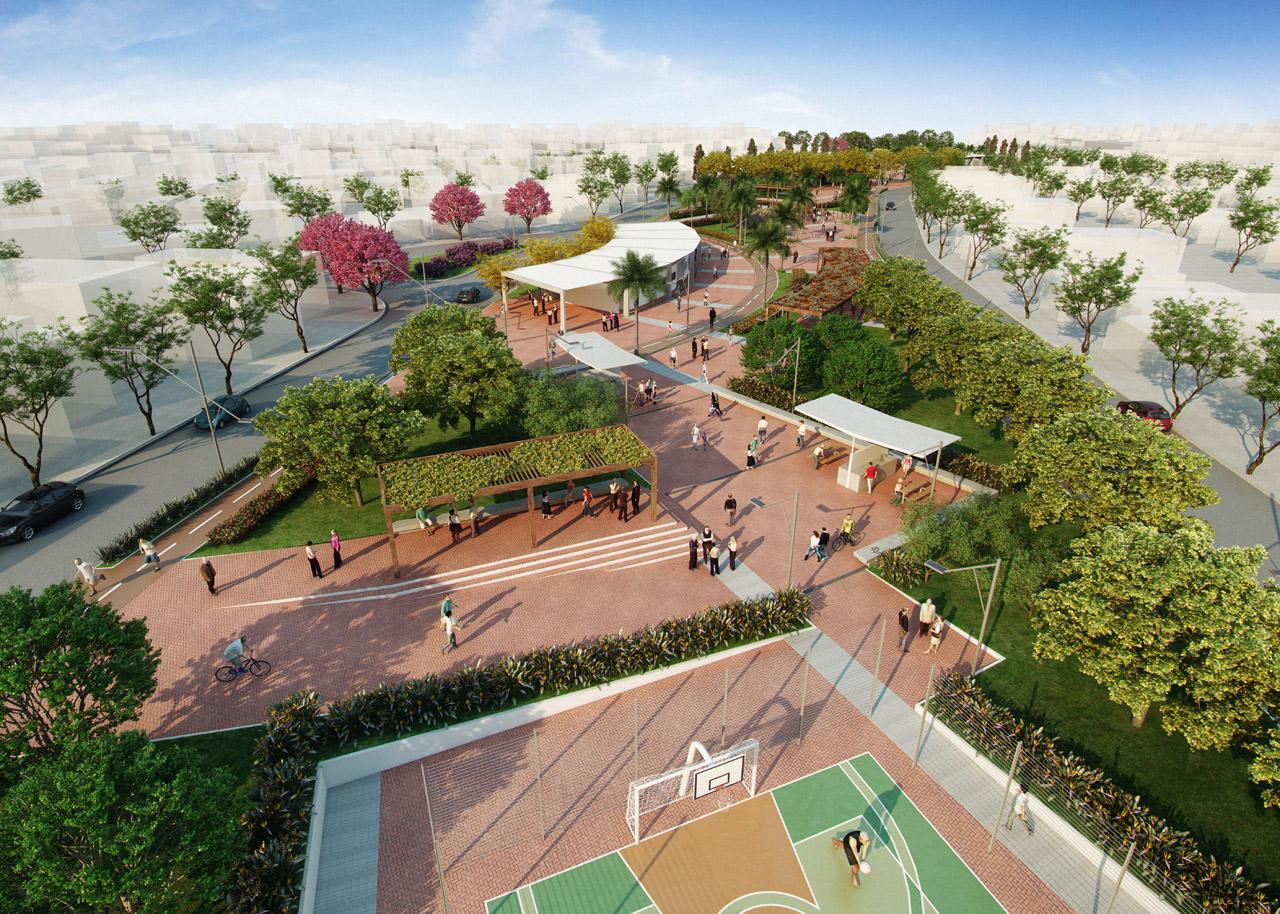 Extremamente Galeria de 1° Lugar - Concurso de projetos: Praça Colinas de  SU63