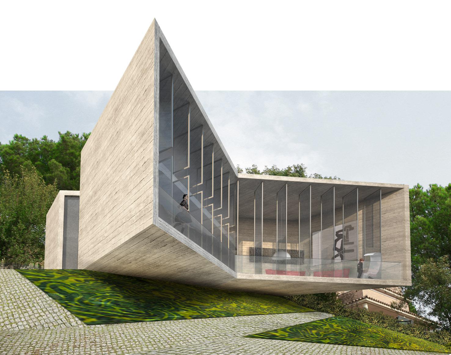Em construção: Casa X / Cadaval & Solà-Morales, Vista Exterior
