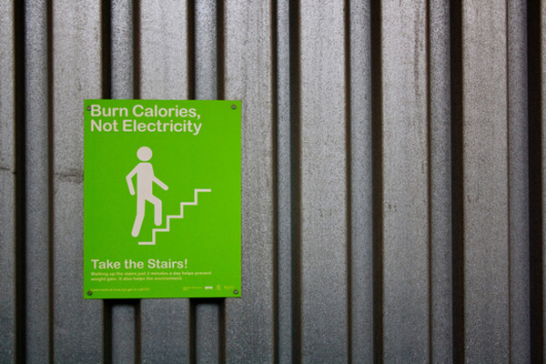 Em Nova York projeto incentiva uso de escadas, Imagem via Atitude Sustentável