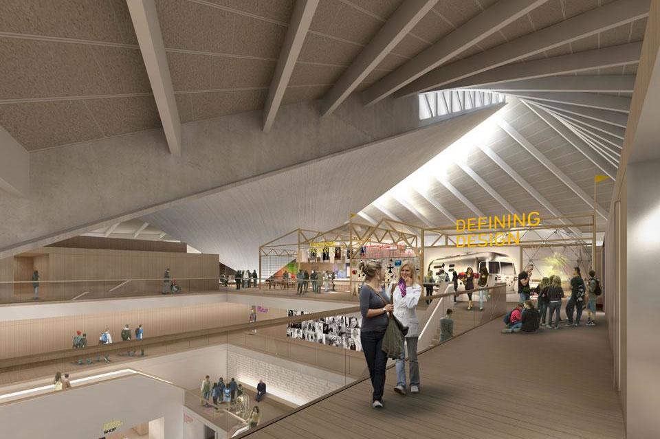 O novo Museu do Design de Londres será obra de John Pawson, OMA, West 8 e Arup, © Alex Morris Visualisation