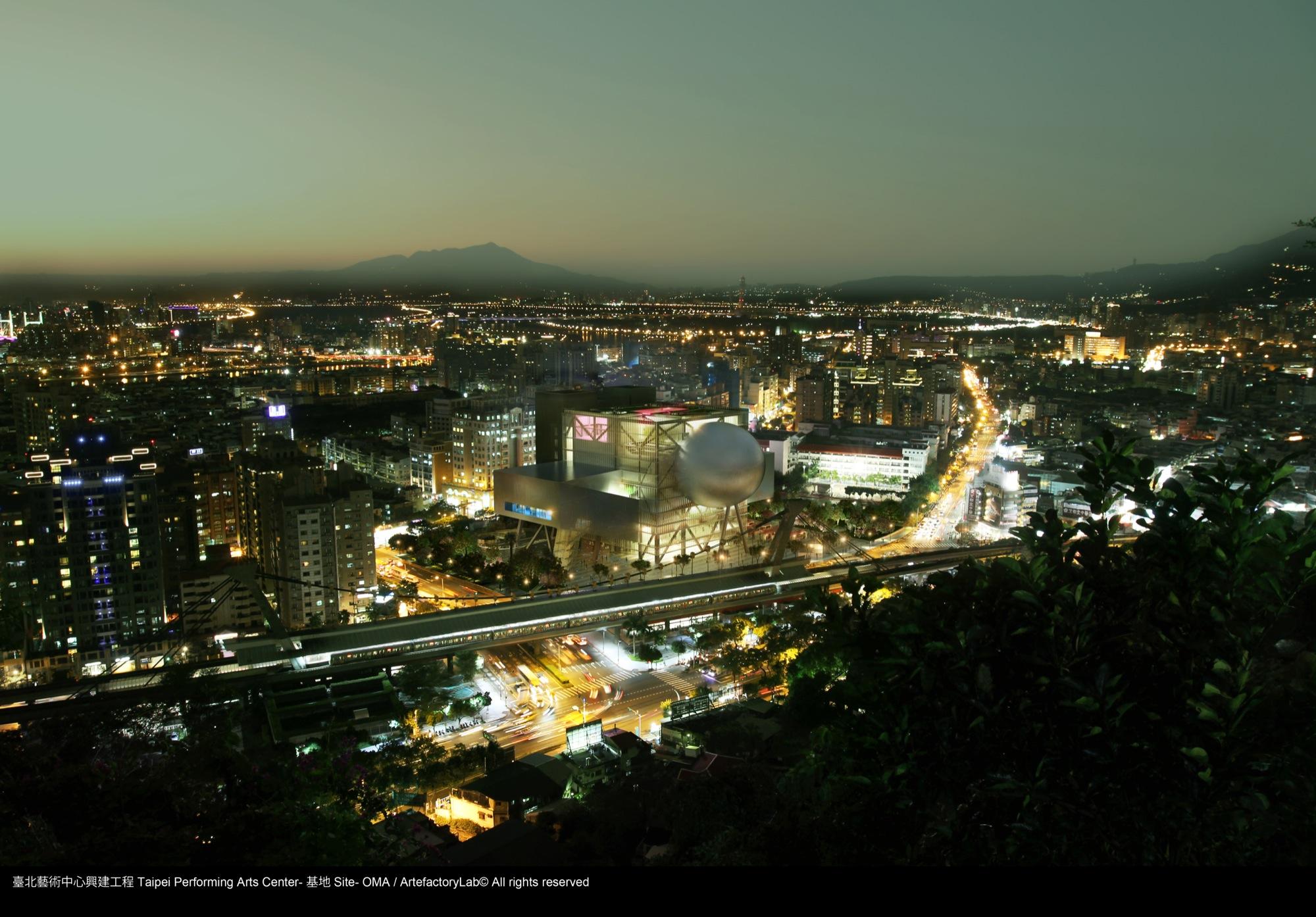 O Taipei Performing Arts Center, do OMA, começa a ser construído, TPAC localização © OMA