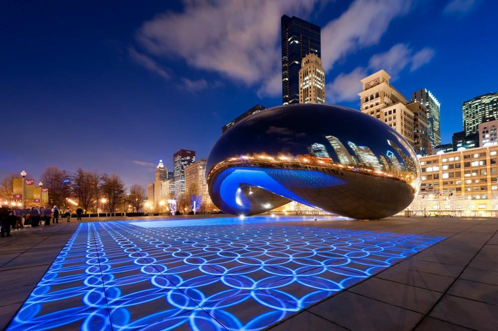 """""""Luminous Field"""": transformar o espaço público através de luz e som , © Milosh Kosanovich"""