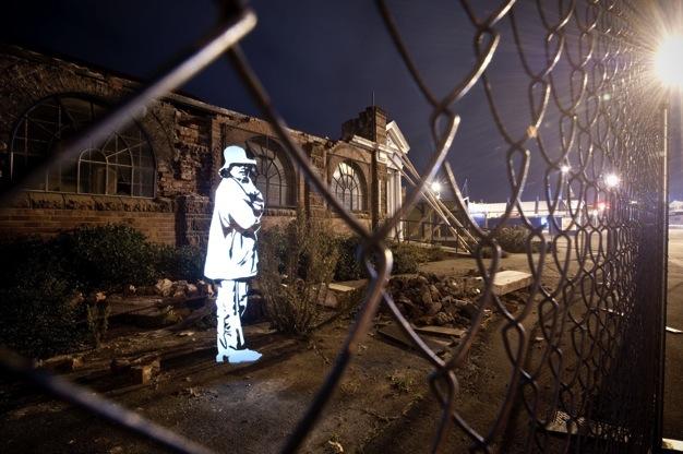 Projeto fotográfico: Stencils de luz na cidade , © Wittner Fabrice