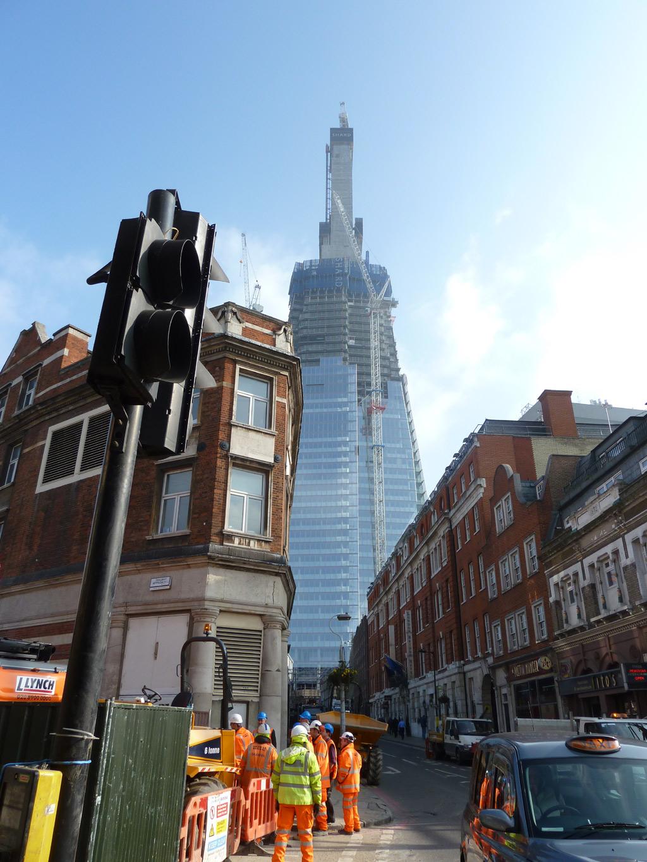 Em Construção: The Shard por Renzo Piano, a torre mais alta da Europa, Em construção © Wjfox2004