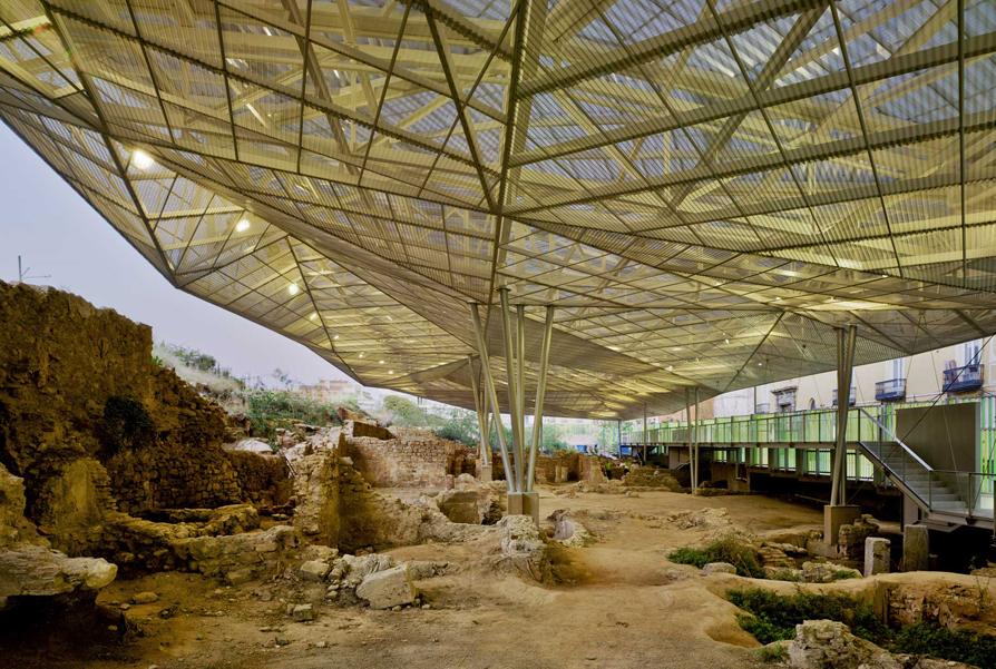 Coberta para o Parque Arqueológico de El Molinete / Amann-Cánovas-Maruri, © David Frutos