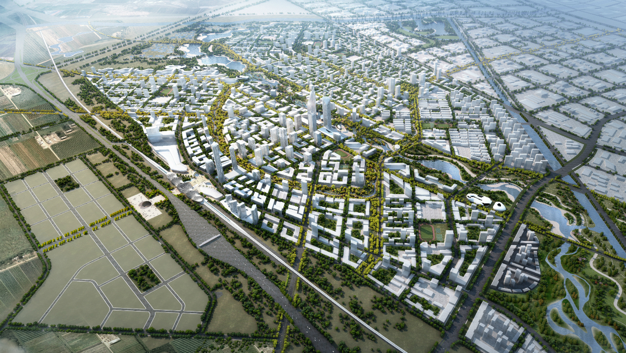 SOM vence concurso para Bohai Innovation City em Pequim, © SOM