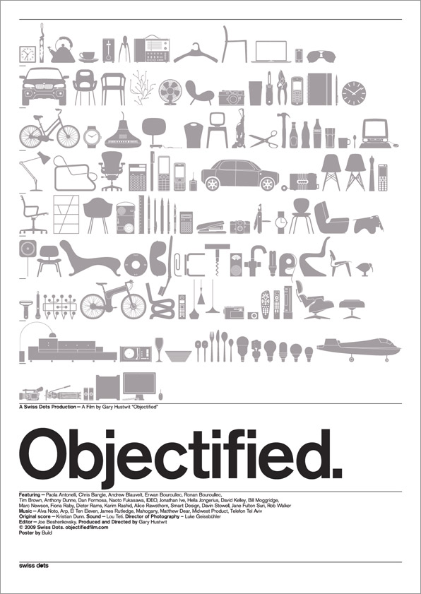 "Cinema e Arquitetura: Documentário ""Objectified"", © Objectified/ 2009 Swiss Dots"