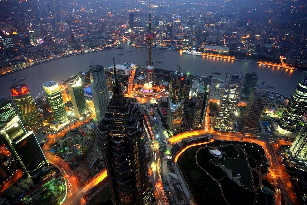 Shangai está afundando devido ao peso de seus arranha-céus
