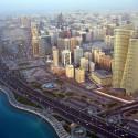 A capital dos Emirados Árabres, com 420 mil habitantes*
