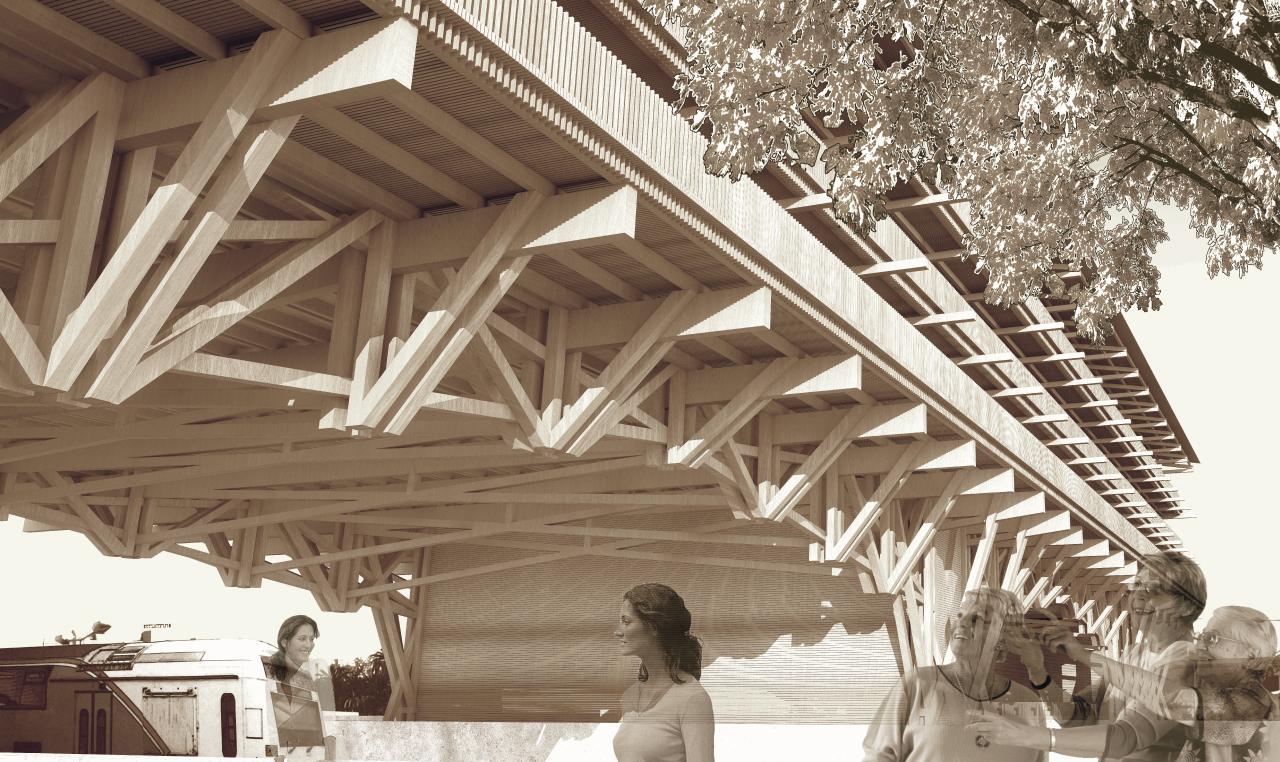 Prêmio Secil Universidades – Arquitetura: Megaestrutura - Infraestrutura / Fábio Rosado, Perspectiva 1