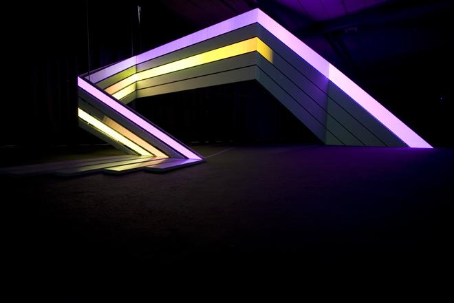 Vídeo: paredes pintadas de luz / Strukt, Via Strukt