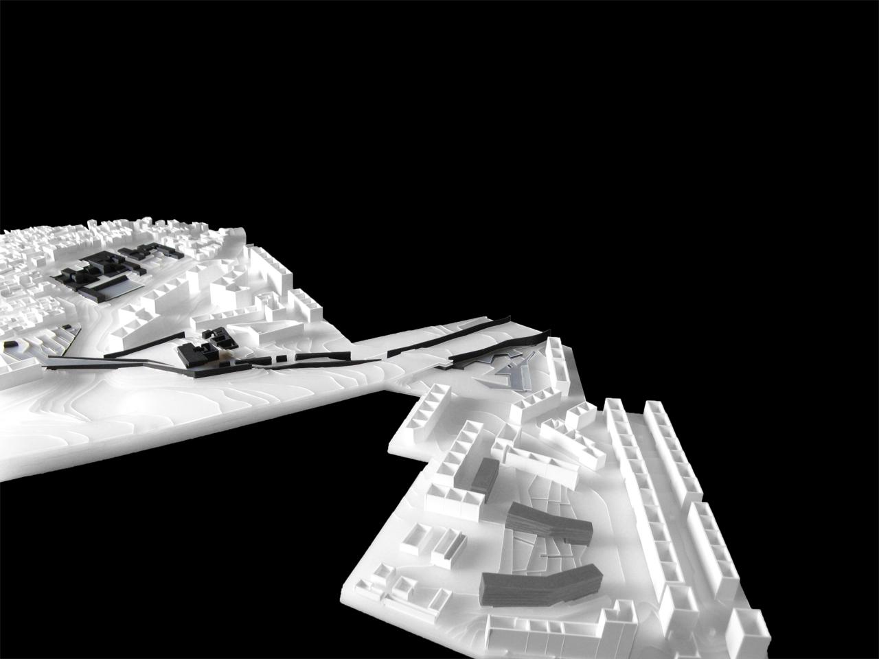Prêmio Secil Universidades – Arquitetura: URBANDUTO | indutor de urbanidade na Cova da Moura / Luísa Lopes e Rafaela Naia, Maquete