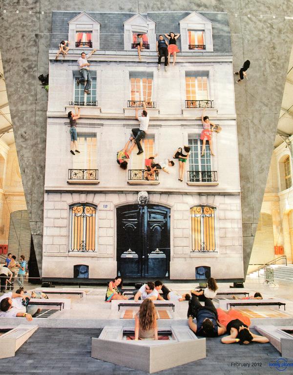 A arquitetura construída a partir de ilusões de óticas , © Cortesia de Colossal