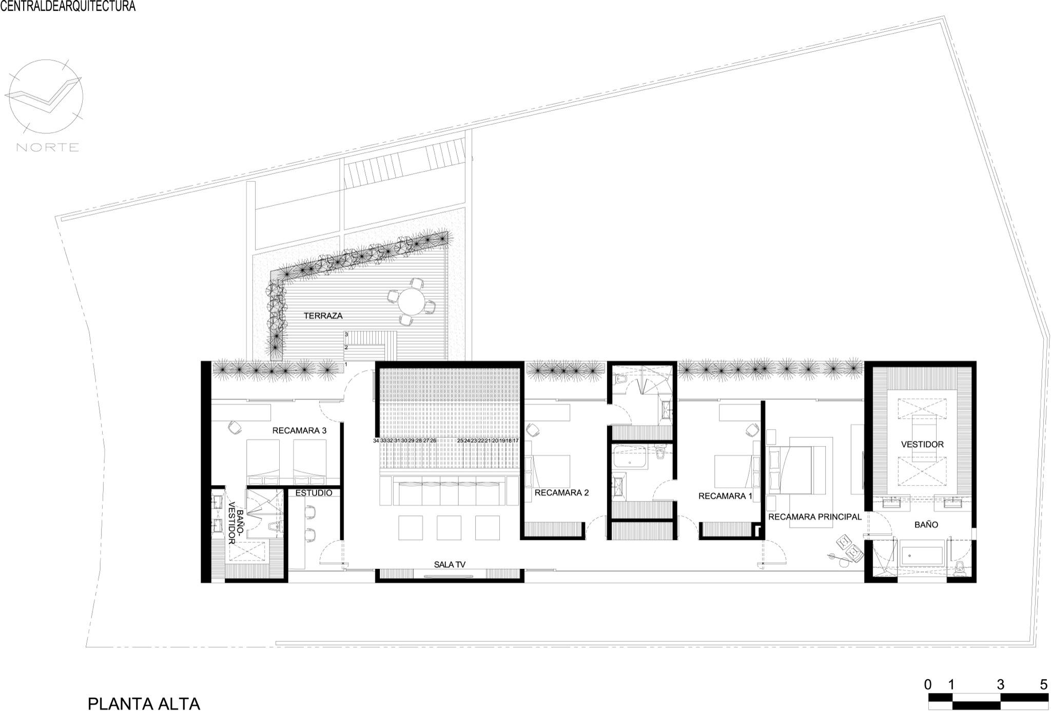 Center Hall Colonial Floor Plan Galeria De Casa La Punta Central De Arquitectura 20