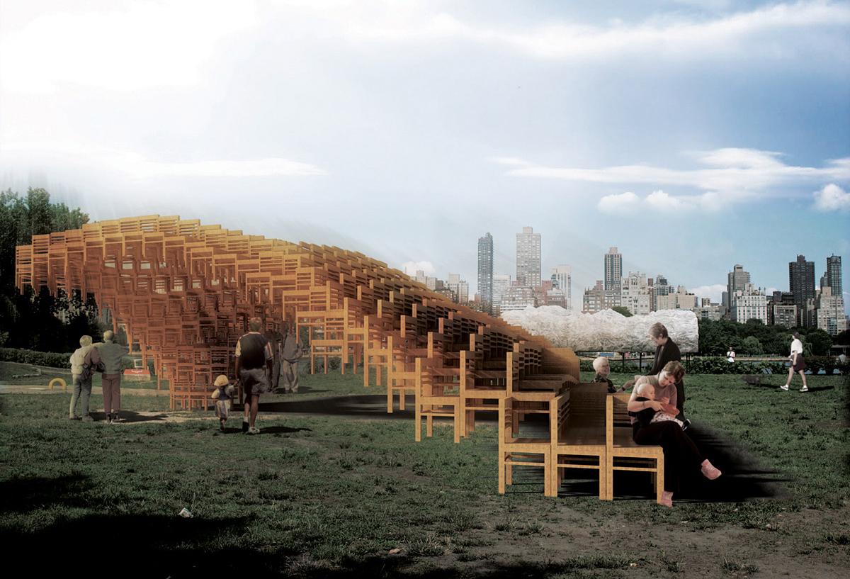 400 caderias no futuro SEAT Pavilion de Atlanta, E/B Office