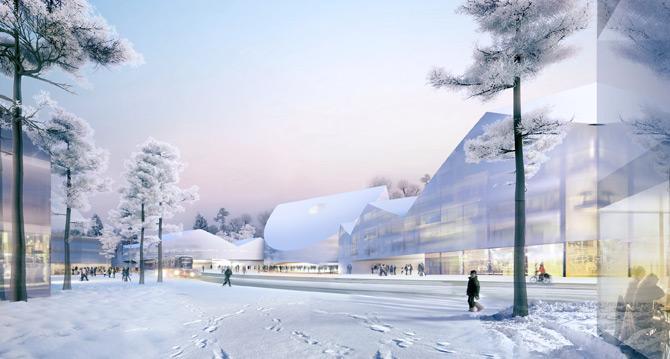 Herzog & De Meuron vencem concurso para a nova Universidade de Skolkovo, Imagens via Inhabitat