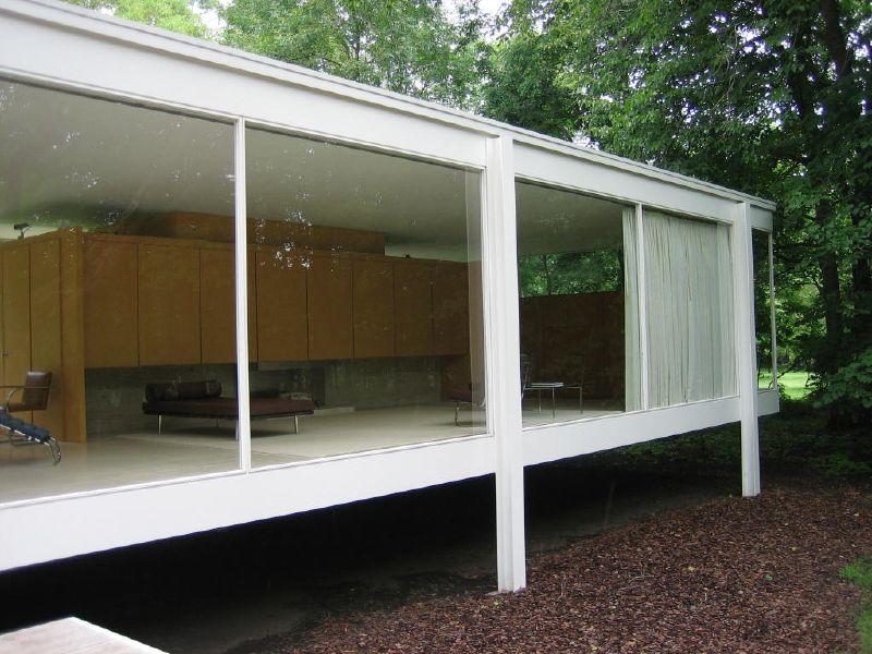 Galeria de cl ssicos da arquitetura casa farnsworth for Casa minimalista de mies van der rohe