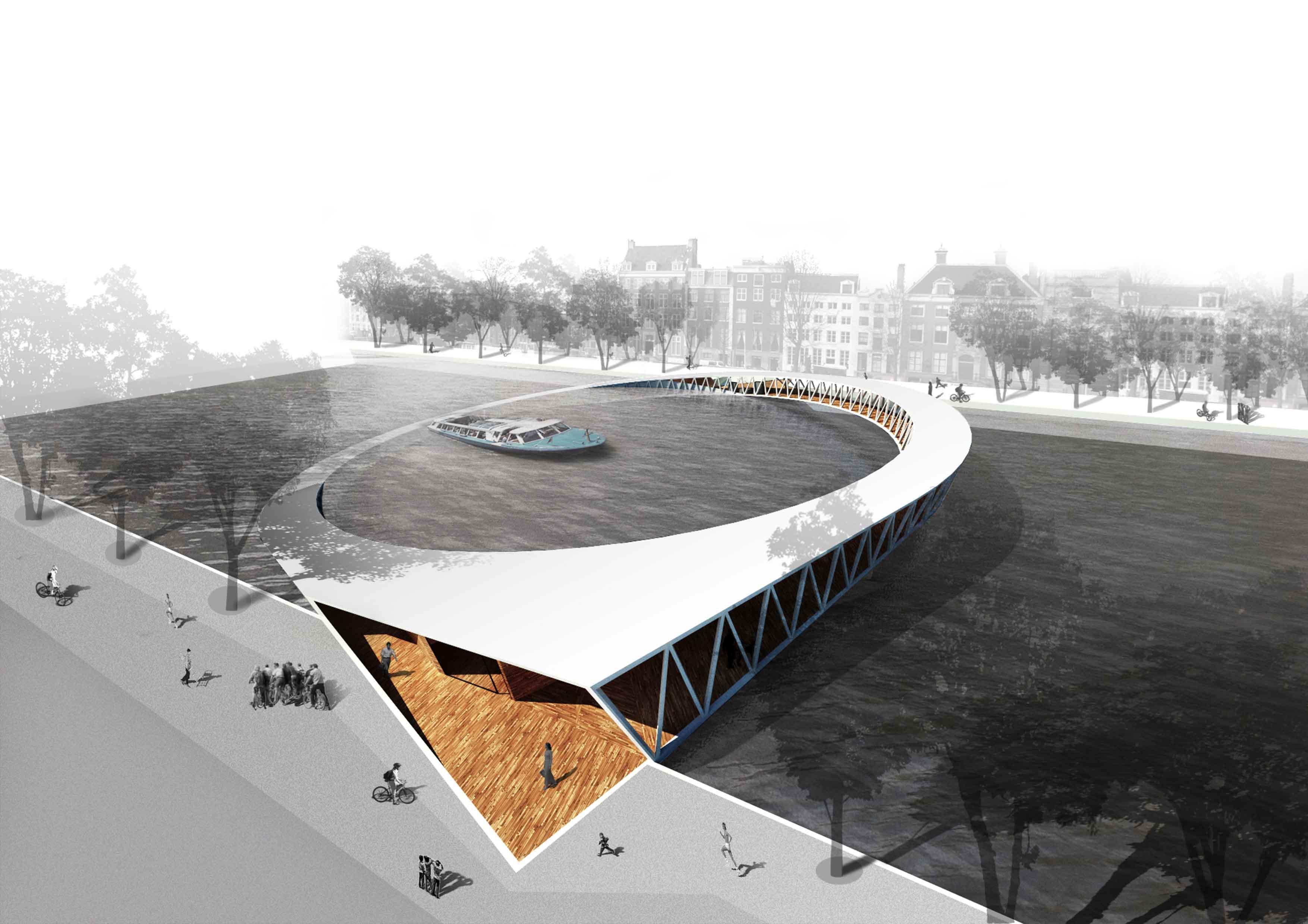 Resultado Concurso: Ponte para Pedestres em Amsterdã, 1º Prêmio: Nicolas Montesano, Victor Vila, Boris Hoppek