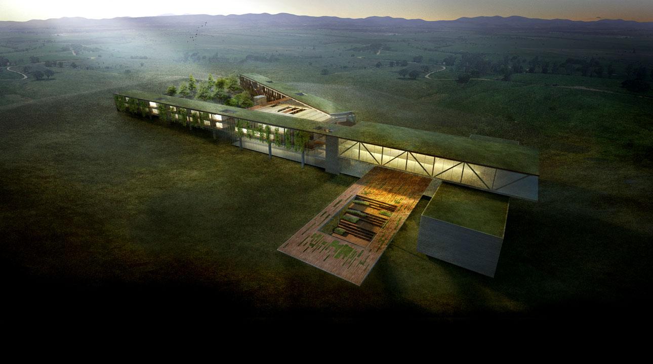 Vencedor do Concurso Projeto Aliah: Um hotel para uma Copa verde / Arkiz + Hiperstudio , Vista Geral