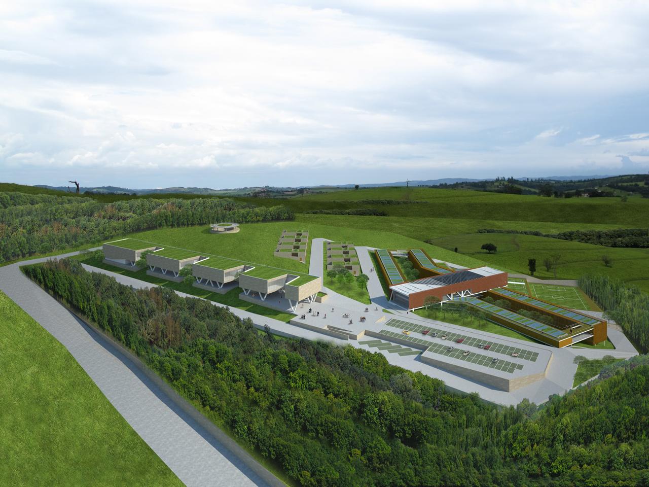 2° Prêmio - Concurso Projeto Aliah: Um hotel para uma Copa verde / Oficina Coletiva Arquitetos, Vista Geral