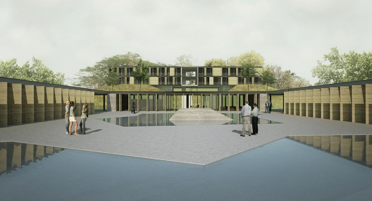 3° Prêmio – Concurso Projeto Aliah: Um hotel para uma Copa verde / EstudioMB, Praça