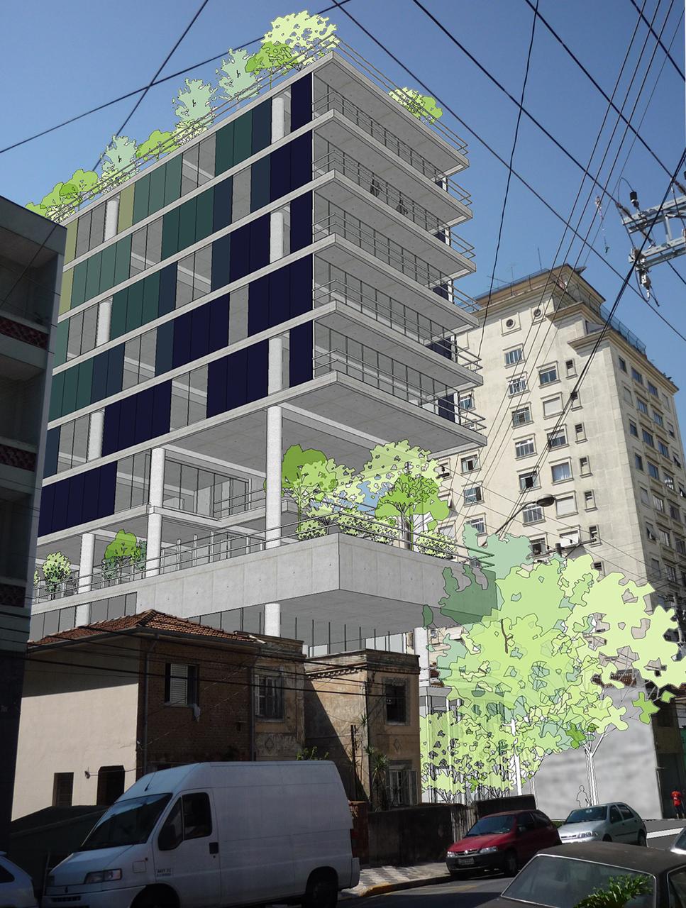 Extremamente Galeria de Em Construção: Edifício Comercial João Moura / Nitsche  WH84