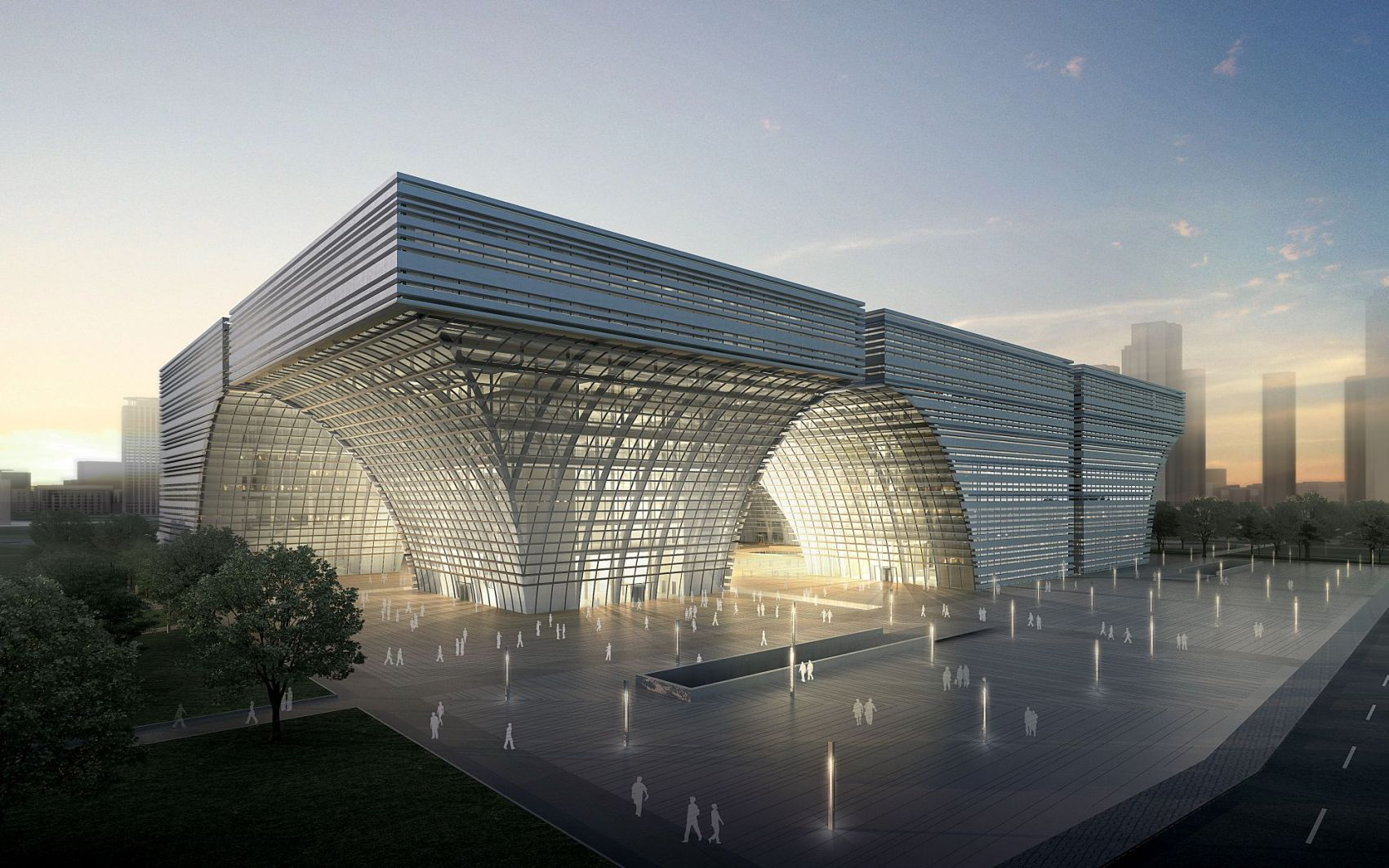 1° Lugar: Concurso Internacional Centro Cultural Changzhou / gmp Architekten, © Crystal Digital Technology