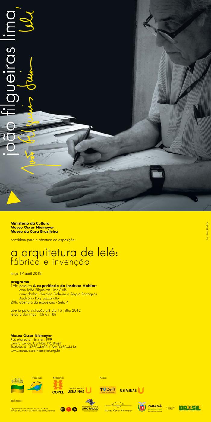 A arquitetura de Lelé em exposição no Museu Oscar Niemeyer / Curitiba - PR, Divulgação