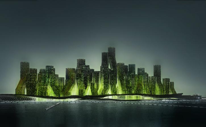 Cidade flutuante que transforma, através de algas, CO2 em biodiesel, © X-TU