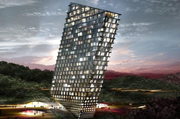 TLT: O hotel inclinado projetado por BIG, © BIG
