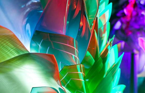 Composições orgânicas: 3Form Art Light, Via 3Form Art Light