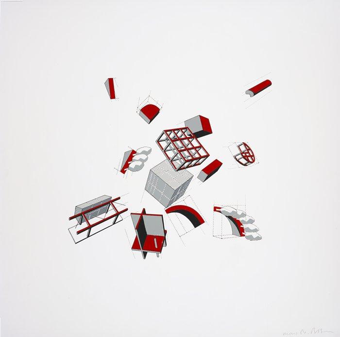 Disjunções / Bernard Tschumi, Bernard Tschumi, Folie explodido, 1984