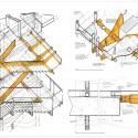 Estrutura das escadas de metal
