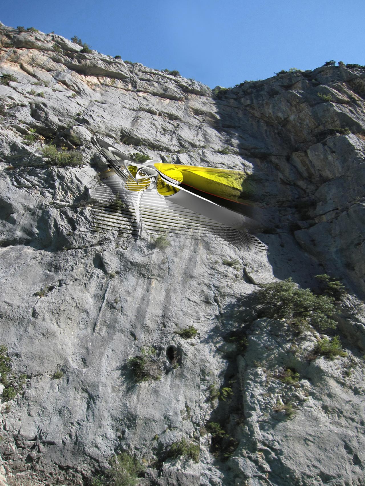 Hotel Pendurado: um acampamento suspenso por escaladores, Cortesia Dr. Margot Krasojevic