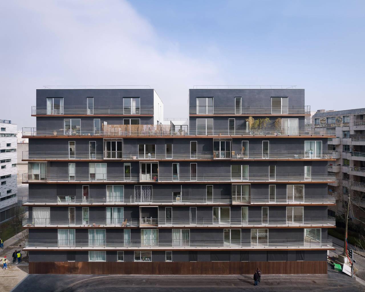 Unidade Habitacional em Boulogne-Billancourt / LAN Architecture, © Julien Lanoo
