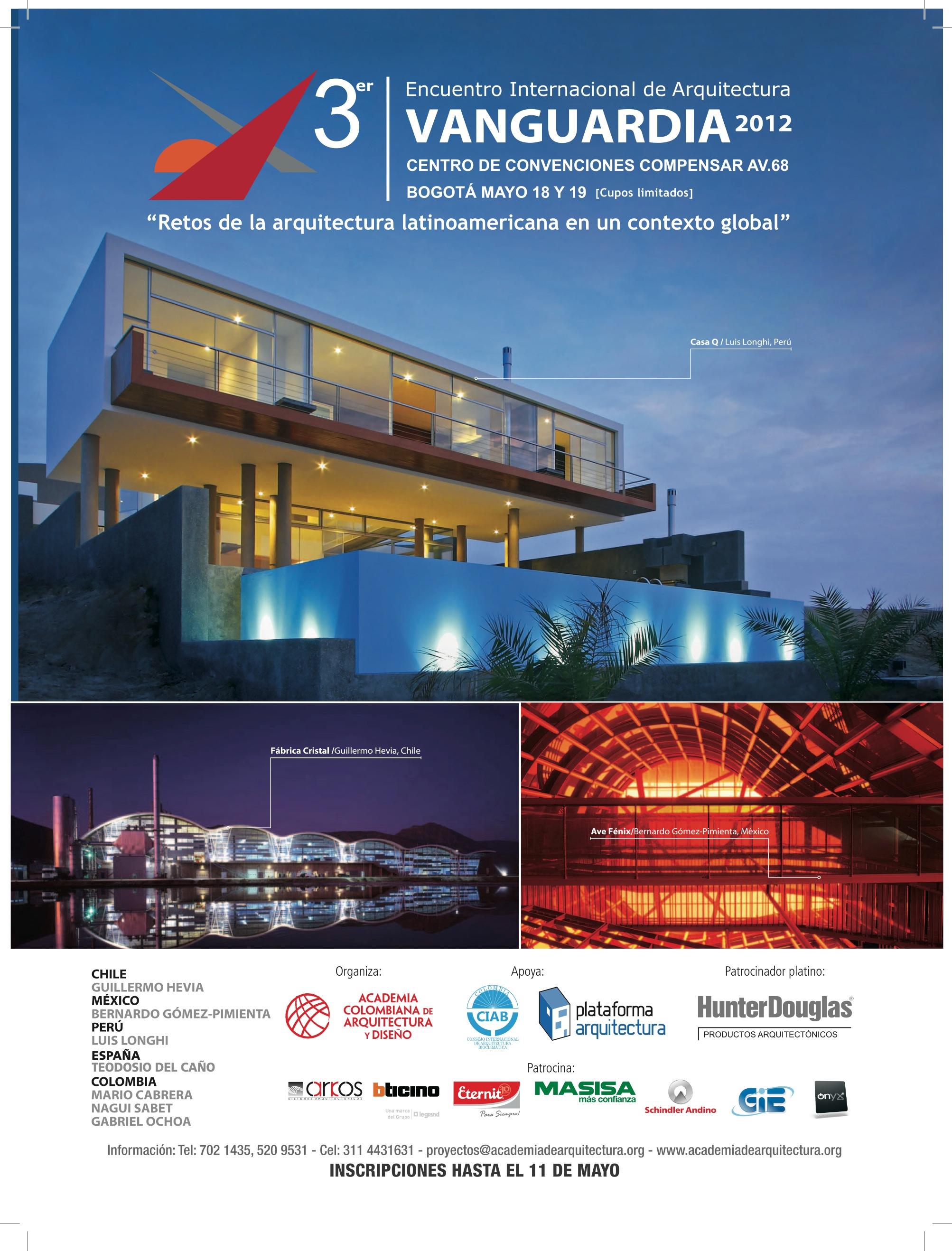 3º Encontro Internacional de Arquitetura Vanguardia 2012, Divulgação