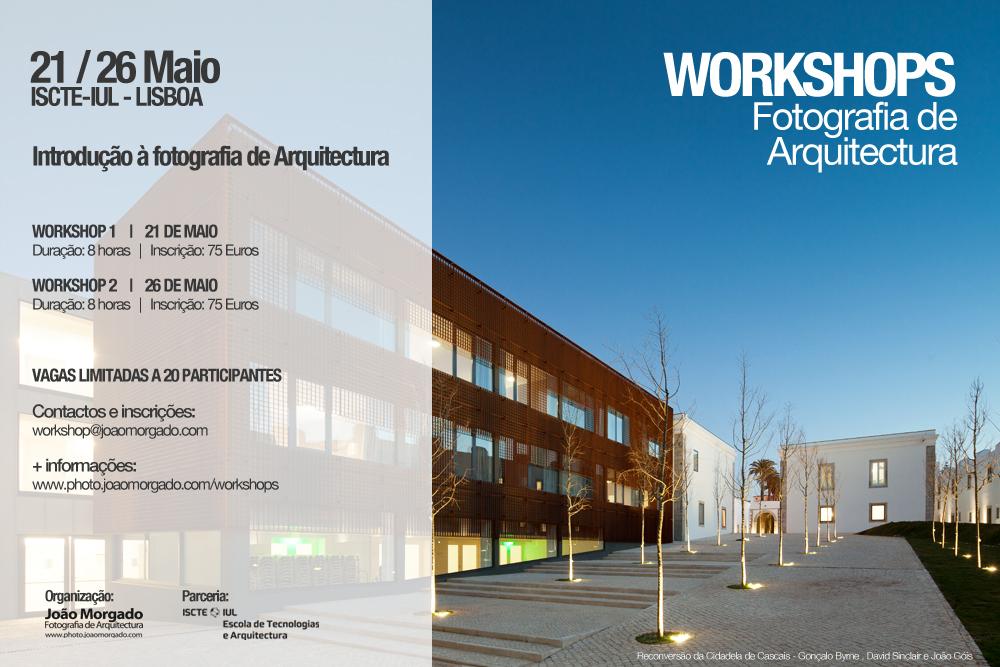 Dois Workshops de 'Introdução à Fotografia de Arquitectura' por João Morgado no ISCTE-IUL, em Lisboa, © Cortesia de João Morgado