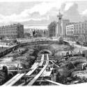 Construção dos túneis , 1861