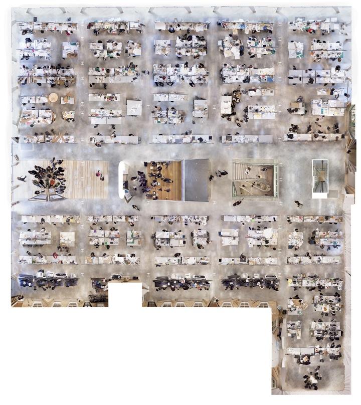 Vistas aéreas do Milstein Hall de OMA por Brett Beyer, © Brett Beyer