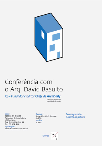Palestra com arquiteto David Basulto na Escola da Cidade