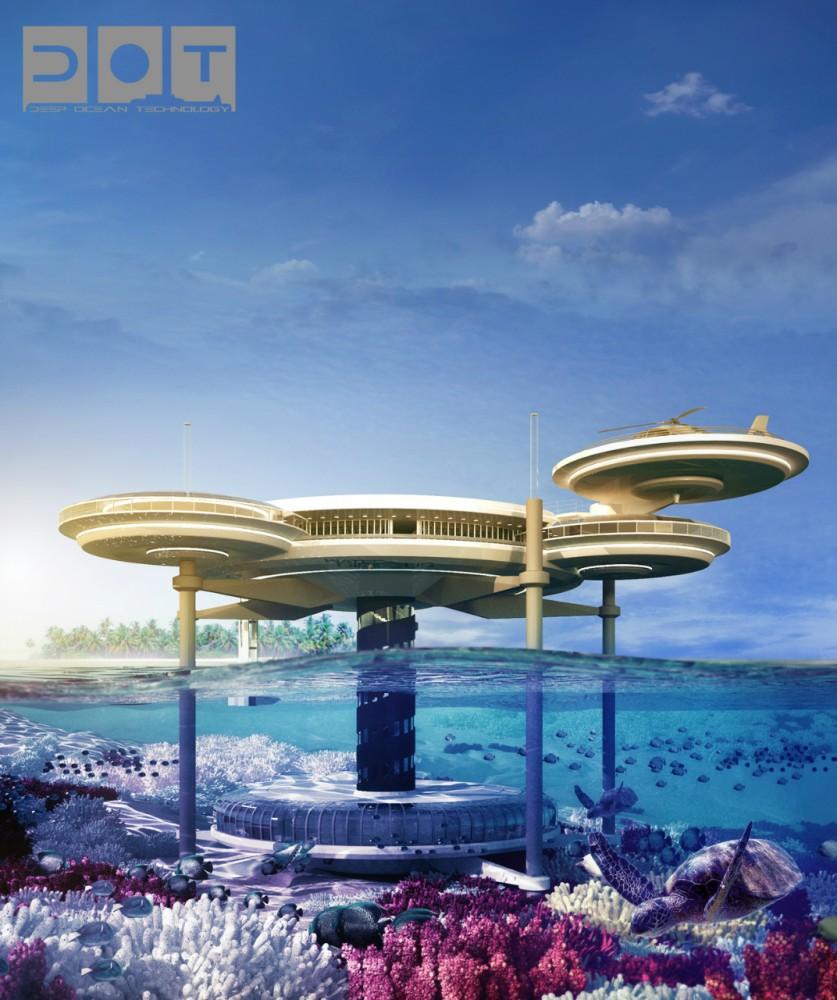 Hotel Submarino planejado para Dubai, via Plataforma Arquitectura
