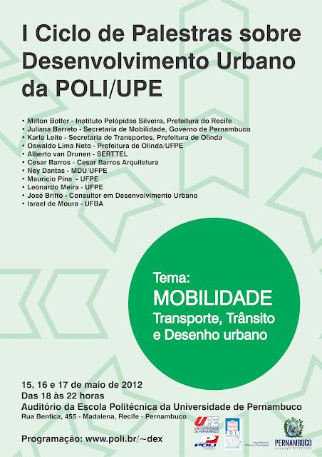 Ciclo de Palestras sobre Desenvolvimento Urbano da Poli - UPE / Recife - Pernambuco, Divulgação