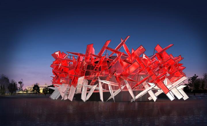 Pavilhão 'Coca-Cola Beatbox' de Pernilla & Asif se incorpora ao Parque Olímpico de Londres 2012, © Pernilla & Asif