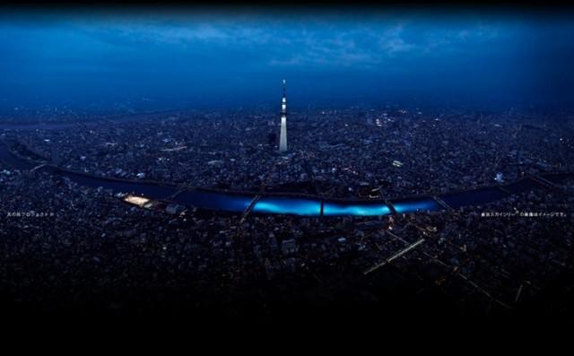 100.000 luzes de LED brilham no Rio Sumida / Tóquio - Japão, © colossal